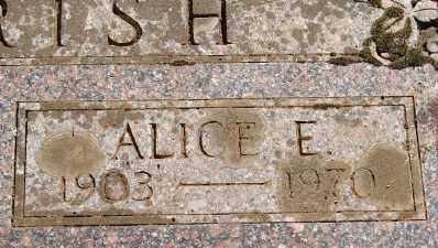 PARRISH, ALICE E - Marion County, Oregon | ALICE E PARRISH - Oregon Gravestone Photos