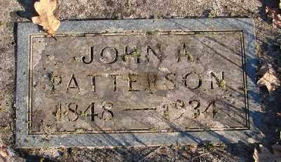 PATTERSON, JOHN A - Marion County, Oregon   JOHN A PATTERSON - Oregon Gravestone Photos
