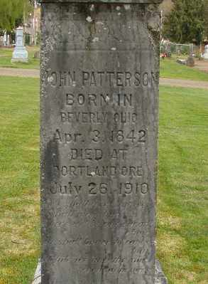 PATTERSON, JOHN - Marion County, Oregon | JOHN PATTERSON - Oregon Gravestone Photos