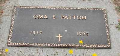 PATTON, OMA E - Marion County, Oregon | OMA E PATTON - Oregon Gravestone Photos