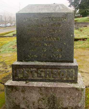 PETERSON, CHRISTIANNA - Marion County, Oregon | CHRISTIANNA PETERSON - Oregon Gravestone Photos