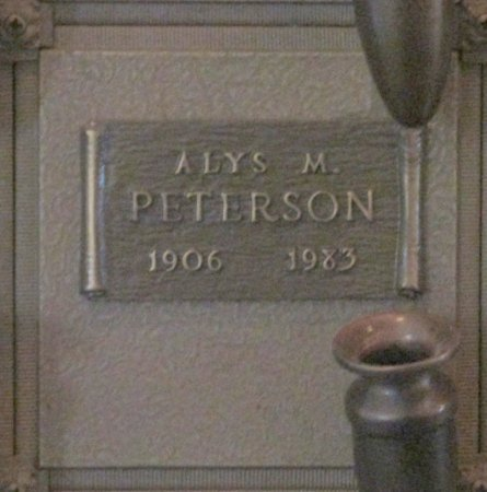PETERSON, ALYS M - Marion County, Oregon | ALYS M PETERSON - Oregon Gravestone Photos