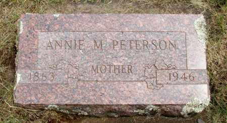 PETERSON, ANNIE M - Marion County, Oregon | ANNIE M PETERSON - Oregon Gravestone Photos