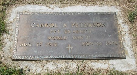 PETERSON, CARROL ARTHUR - Marion County, Oregon | CARROL ARTHUR PETERSON - Oregon Gravestone Photos