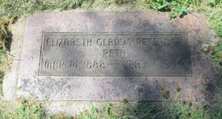 PETERSON, ELIZABETH GLADYS - Marion County, Oregon | ELIZABETH GLADYS PETERSON - Oregon Gravestone Photos