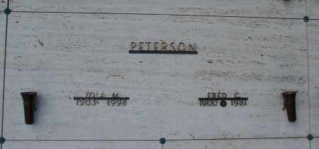 PETERSON, FRED C - Marion County, Oregon | FRED C PETERSON - Oregon Gravestone Photos