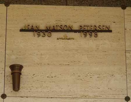 PETERSON, JEAN - Marion County, Oregon   JEAN PETERSON - Oregon Gravestone Photos