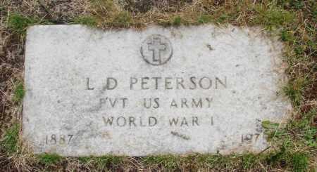 PETERSON, L D - Marion County, Oregon | L D PETERSON - Oregon Gravestone Photos