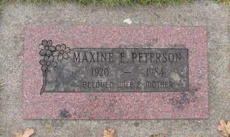 PETERSON, MAXINE E - Marion County, Oregon | MAXINE E PETERSON - Oregon Gravestone Photos