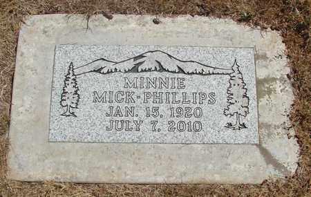 PHILLIPS, MINNIE - Marion County, Oregon | MINNIE PHILLIPS - Oregon Gravestone Photos