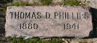 PHILLIPS, THOMAS D - Marion County, Oregon | THOMAS D PHILLIPS - Oregon Gravestone Photos