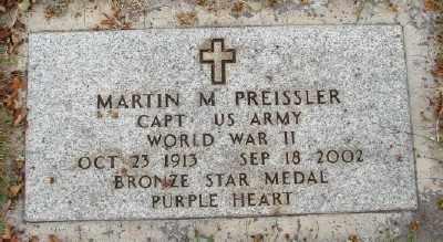 PREISSLER (WWII), MARTIN M - Marion County, Oregon   MARTIN M PREISSLER (WWII) - Oregon Gravestone Photos