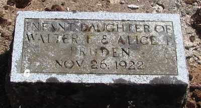 PRUDEN, INFANT DAUGHTER - Marion County, Oregon | INFANT DAUGHTER PRUDEN - Oregon Gravestone Photos