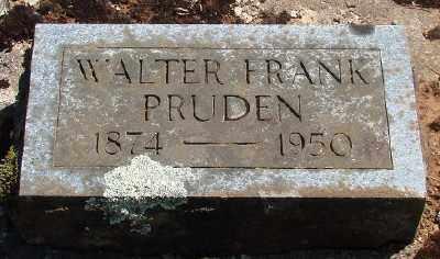 PRUDEN, WALTER FRANK - Marion County, Oregon | WALTER FRANK PRUDEN - Oregon Gravestone Photos