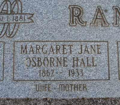HALL, MARGARET JANE OSBORNE - Marion County, Oregon   MARGARET JANE OSBORNE HALL - Oregon Gravestone Photos