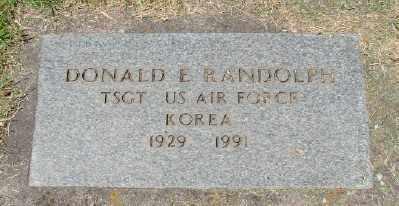 RANDOLPH (KOR), DONALD E - Marion County, Oregon | DONALD E RANDOLPH (KOR) - Oregon Gravestone Photos