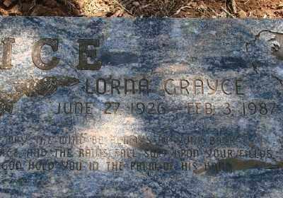 CALLAHAN RICE, LORNA GRAYCE - Marion County, Oregon   LORNA GRAYCE CALLAHAN RICE - Oregon Gravestone Photos
