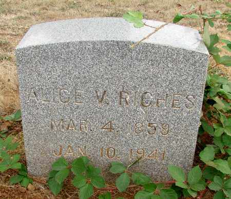 RICHES, ALICE V - Marion County, Oregon | ALICE V RICHES - Oregon Gravestone Photos