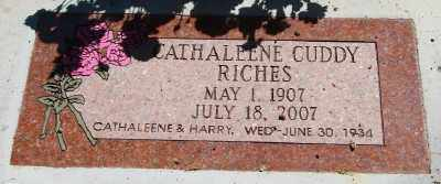 RICHES, CATHALEENE ELIZABETH - Marion County, Oregon | CATHALEENE ELIZABETH RICHES - Oregon Gravestone Photos