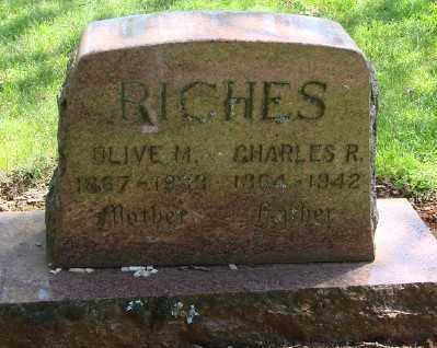RICHES, CHARLES R - Marion County, Oregon | CHARLES R RICHES - Oregon Gravestone Photos
