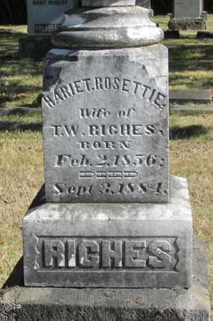RICHES, HARIET ROSETTIE - Marion County, Oregon | HARIET ROSETTIE RICHES - Oregon Gravestone Photos
