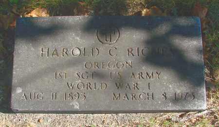 RICHES, HAROLD C - Marion County, Oregon | HAROLD C RICHES - Oregon Gravestone Photos