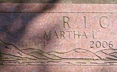RICHES, MARTHA L - Marion County, Oregon   MARTHA L RICHES - Oregon Gravestone Photos
