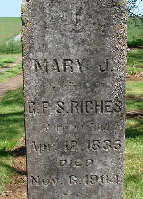 WATKINS RICHES, MARY JANE - Marion County, Oregon | MARY JANE WATKINS RICHES - Oregon Gravestone Photos