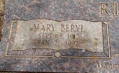 RICHES, MARY BERYL - Marion County, Oregon | MARY BERYL RICHES - Oregon Gravestone Photos