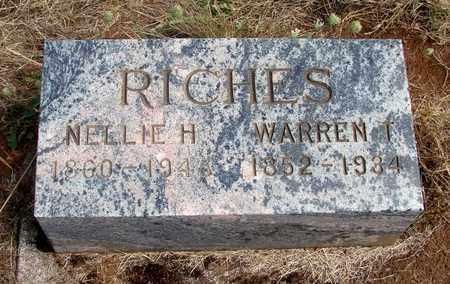 RICHES, WARREN T - Marion County, Oregon | WARREN T RICHES - Oregon Gravestone Photos