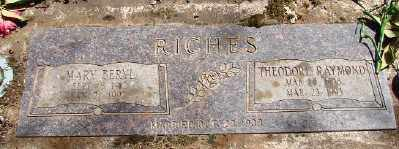RICHES, THEODORE RAYMOND - Marion County, Oregon | THEODORE RAYMOND RICHES - Oregon Gravestone Photos