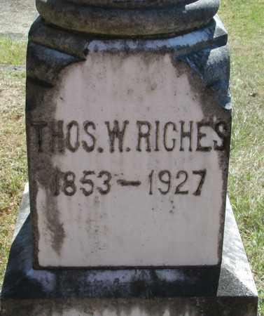 RICHES, THOMAS W - Marion County, Oregon | THOMAS W RICHES - Oregon Gravestone Photos