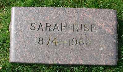 RISE, SARAH - Marion County, Oregon | SARAH RISE - Oregon Gravestone Photos