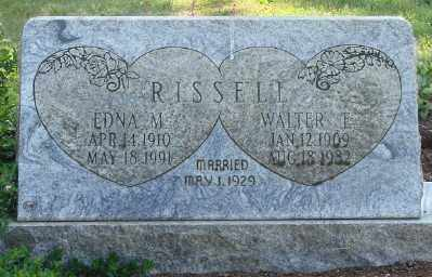 RISSELL, EDNA MAGRETTA - Marion County, Oregon | EDNA MAGRETTA RISSELL - Oregon Gravestone Photos