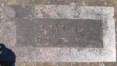 RIX, SARAH - Marion County, Oregon   SARAH RIX - Oregon Gravestone Photos