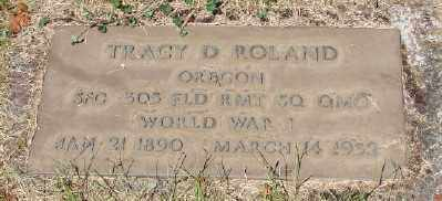 ROLAND (WWI), TRACY DEARDORFF - Marion County, Oregon | TRACY DEARDORFF ROLAND (WWI) - Oregon Gravestone Photos