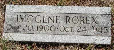 ROREX, IMOGENE - Marion County, Oregon | IMOGENE ROREX - Oregon Gravestone Photos