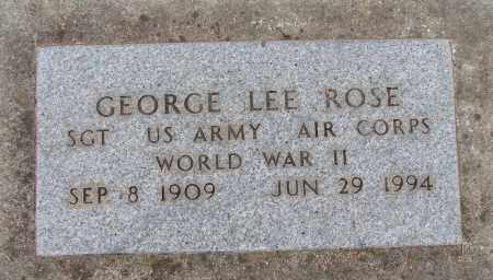 ROSE (WWII), GEORGE LEE - Marion County, Oregon | GEORGE LEE ROSE (WWII) - Oregon Gravestone Photos