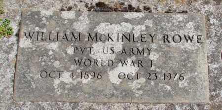 ROWE (WWI), WILLIAM MCKINLEY - Marion County, Oregon | WILLIAM MCKINLEY ROWE (WWI) - Oregon Gravestone Photos