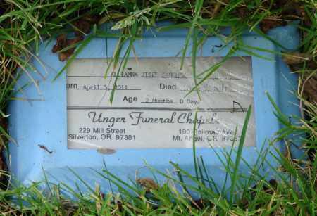 SANCHEZ, ALLIANNA JISEL - Marion County, Oregon   ALLIANNA JISEL SANCHEZ - Oregon Gravestone Photos