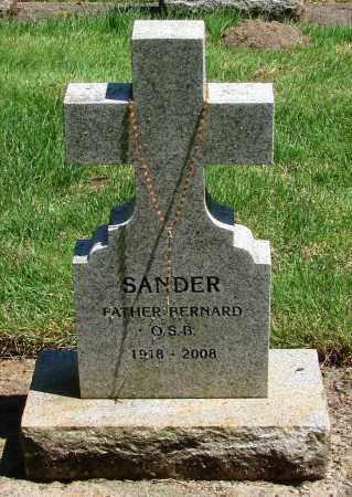 SANDER, BERNARD - Marion County, Oregon | BERNARD SANDER - Oregon Gravestone Photos
