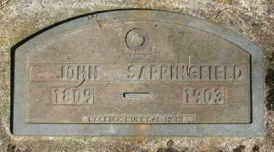 SAPPINGFIELD, JOHN - Marion County, Oregon   JOHN SAPPINGFIELD - Oregon Gravestone Photos