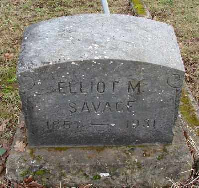 SAVAGE, ELLIOT M - Marion County, Oregon | ELLIOT M SAVAGE - Oregon Gravestone Photos
