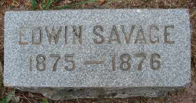SAVAGE, EDWIN - Marion County, Oregon | EDWIN SAVAGE - Oregon Gravestone Photos