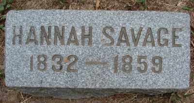 SAVAGE, HANNAH - Marion County, Oregon | HANNAH SAVAGE - Oregon Gravestone Photos