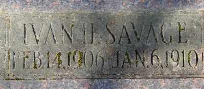 SAVAGE, IVAN HERSHEL - Marion County, Oregon   IVAN HERSHEL SAVAGE - Oregon Gravestone Photos