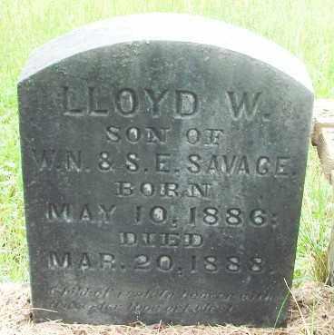 SAVAGE, LLOYD WALLACE - Marion County, Oregon | LLOYD WALLACE SAVAGE - Oregon Gravestone Photos