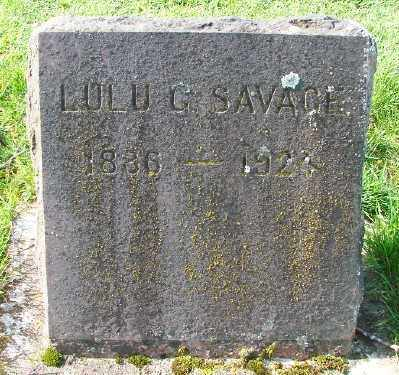 SAVAGE, LULU G - Marion County, Oregon | LULU G SAVAGE - Oregon Gravestone Photos