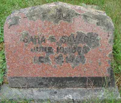 SAVAGE, SARA E - Marion County, Oregon | SARA E SAVAGE - Oregon Gravestone Photos