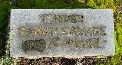 SAVAGE, SARAH - Marion County, Oregon | SARAH SAVAGE - Oregon Gravestone Photos